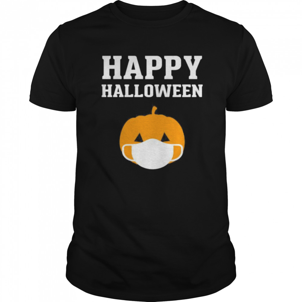 Happy Halloween QuarantineLockdown 2020 Pumpkin Face Mask Classic Men's T-shirt