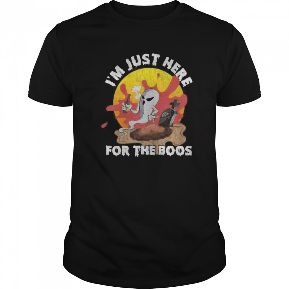 Im Just Here For The Boos Halloween Classic Men's T-shirt
