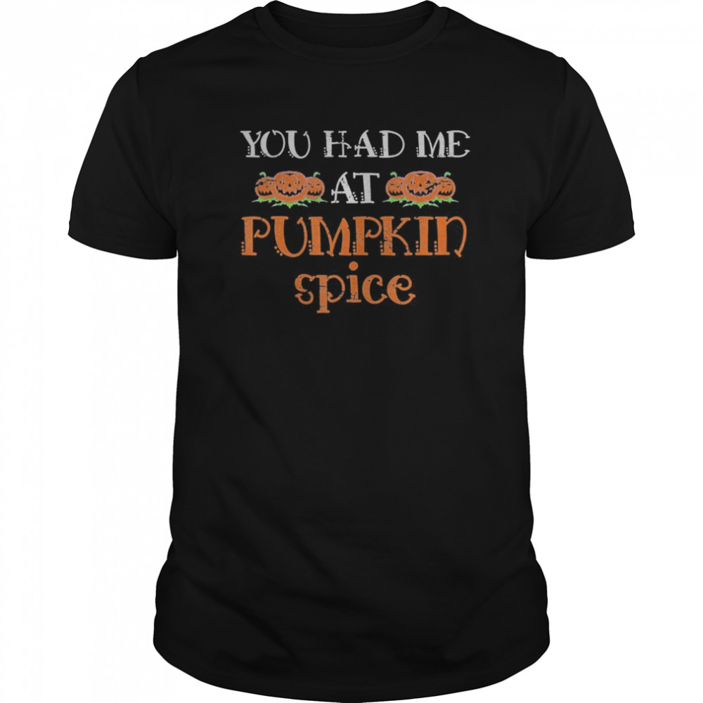 Pumpkin Spice Halloween Gift Pumpkin Classic Men's T-shirt