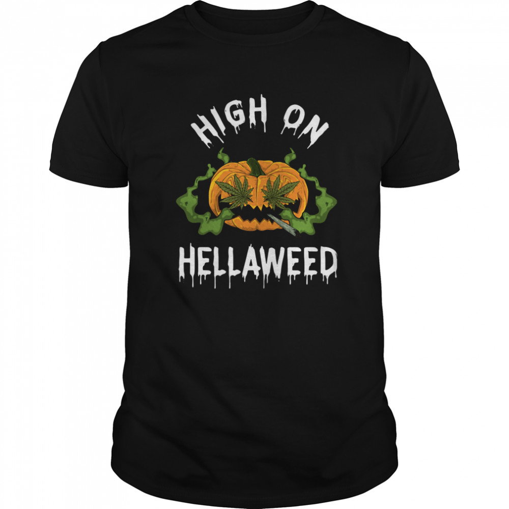Pumpkin Weed High On Hellaweed Classic Men's T-shirt