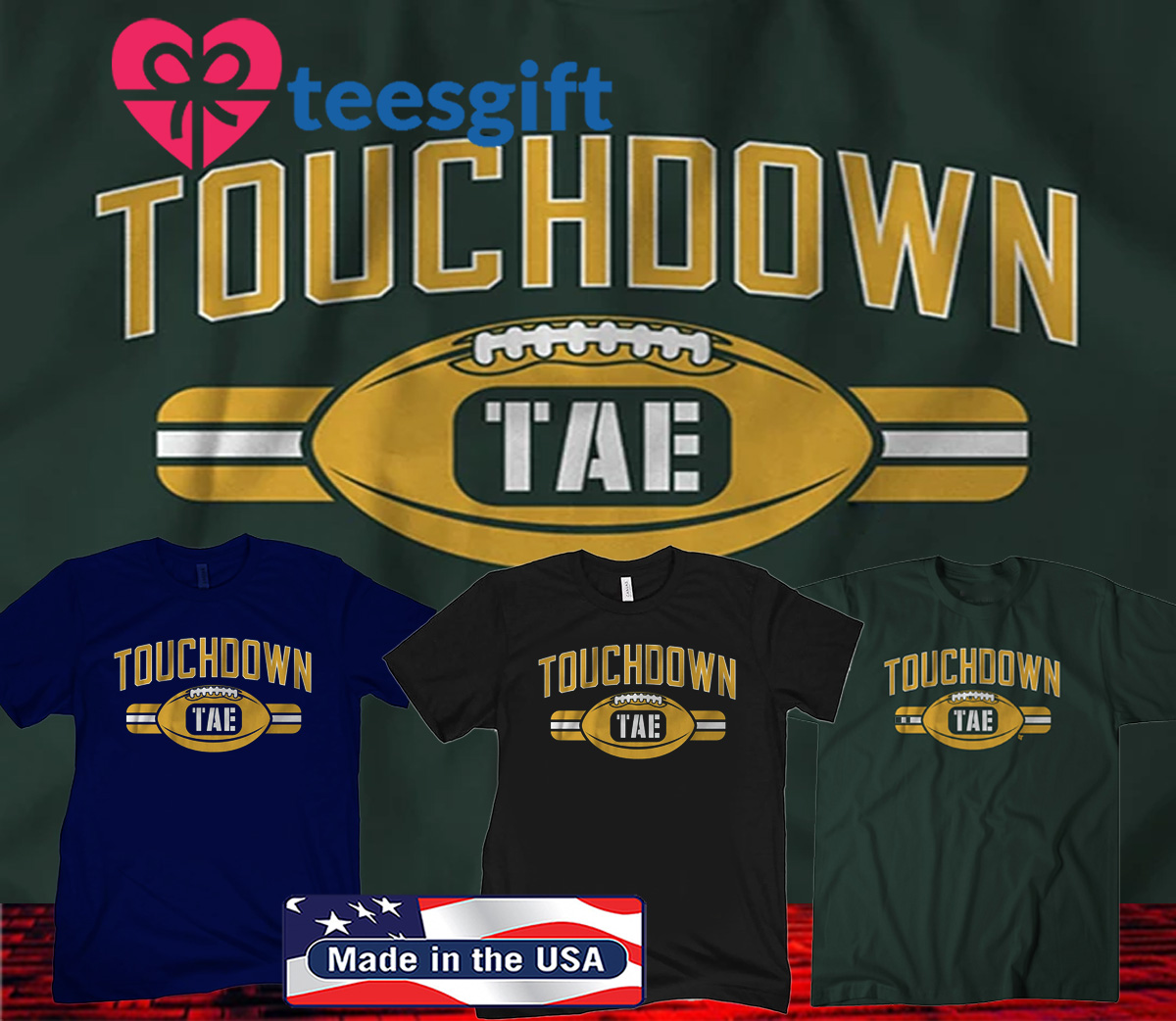 Touchdown Tae Green Bay Football Shirt