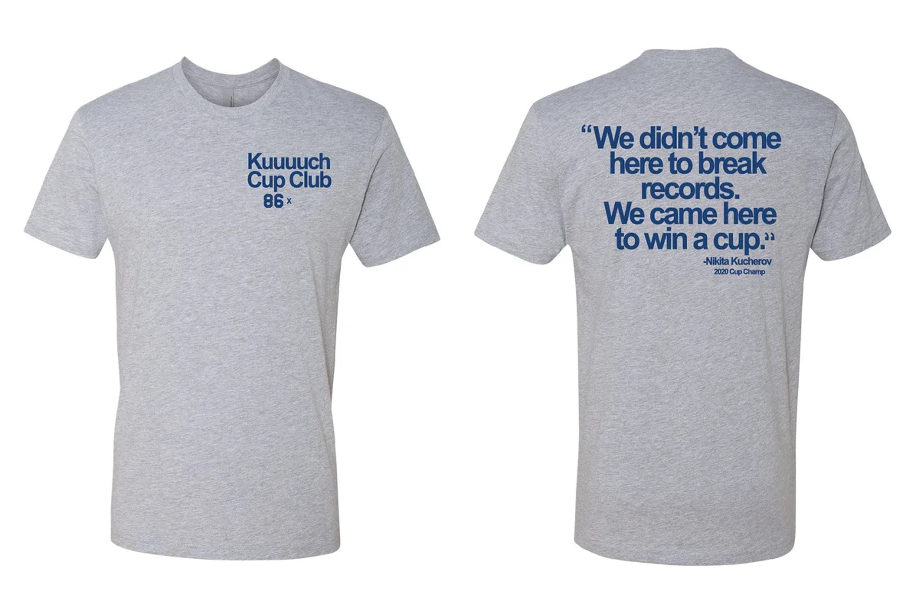 KUUUUUCH QUOTE CUP CLUB T-SHIRT