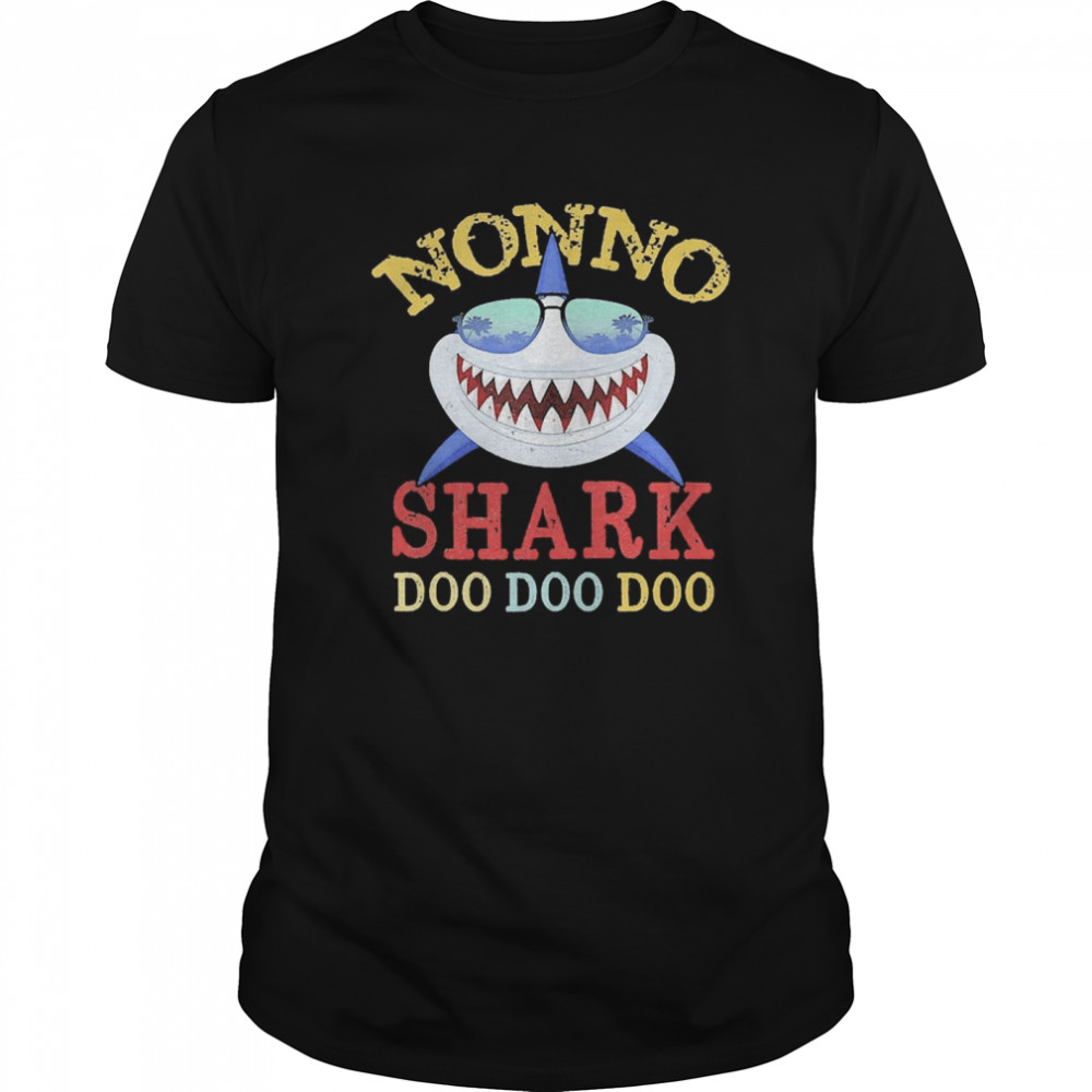 Family 365 Nonno Shark Father's Day  Classic Men's T-shirt