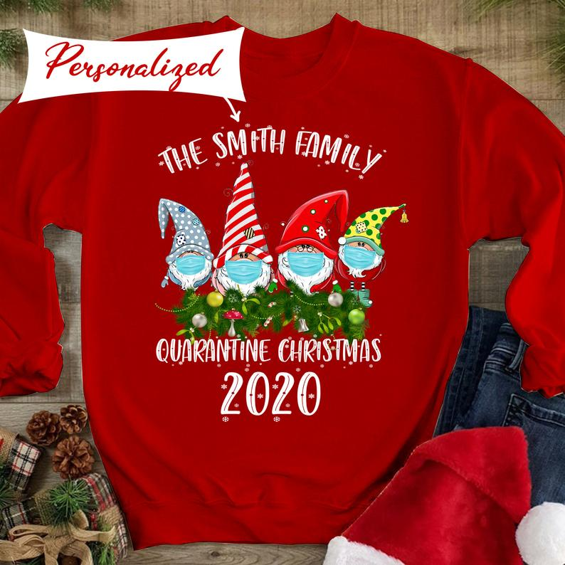 Covid Christmas 2020, Quarantine Christmas Matching Family Hoodies T-Shirt