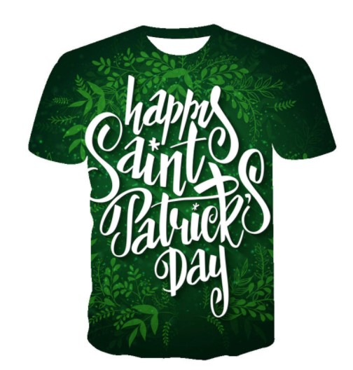 Happy ST. Patrick's Day In Irish 3d Tee Shirt