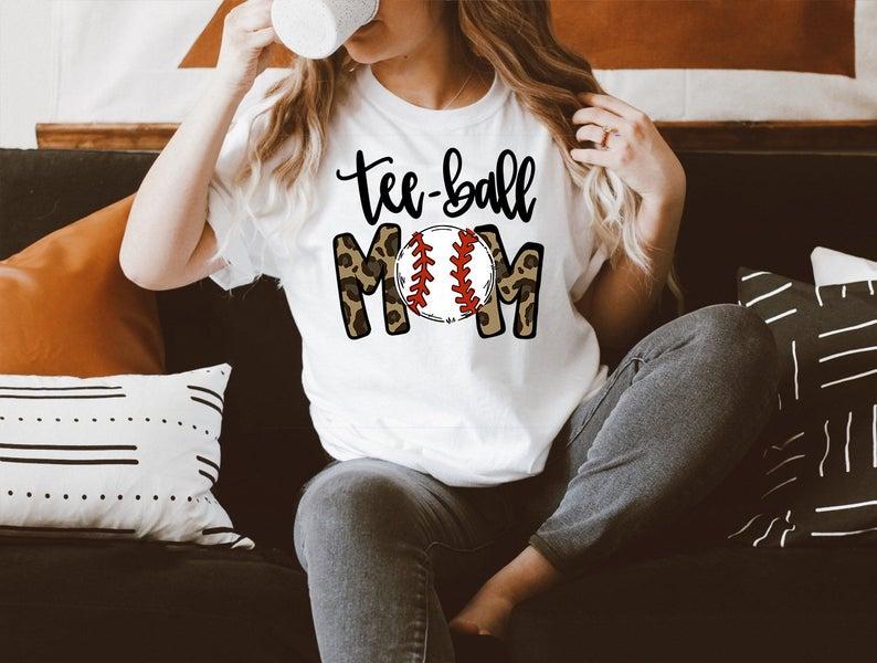 Tee-ball Mom Shirt, Tee-ball Mom T-shirt, Baseball Mom Shirt, Softball Mom Shirt, Mom Mother's Day Shirt, Mother's Day Gift